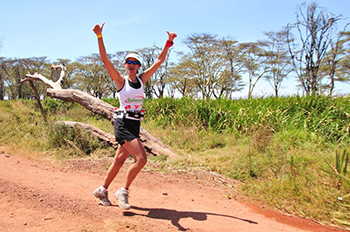 Happy Marathon Runner